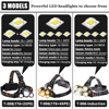5 Core LED Headlamp With IR Sensor Waterproof Fishing Headlight Zoomable Camping Light Powered by 18650 battery review