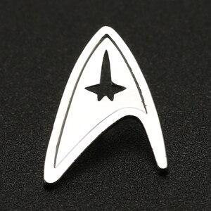 Image 2 - Звездная брошь трек Pin TMP, изображение Admiral Command, знак серебряного цвета, модная новинка, популярные украшения для фильмов, для мужчин и женщин, оптовая продажа