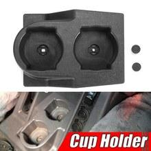 Consola central dianteira do carro dupla água suporte de copo inserção preto para nissan gq patrol y60 1988-1997 4wd 4x4