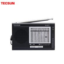 TECSUN R 911 רדיו AM/ FM / SM (11 להקות) רב להקות מקלט שידור עם Built רמקול שחור וכחול זול אור