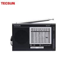 TECSUN R 911 радио AM/ FM / SM (11 полос) многодиапазонный приемник трансляции со встроенным динамиком черный и синий дешевый и светильник