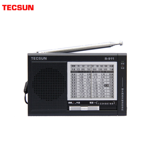 Image 1 - TECSUN R 911 Radio AM/ FM / SM (11 bandas) Receptor de transmisión de bandas múltiples con altavoz incorporado negro y azul barato y ligero