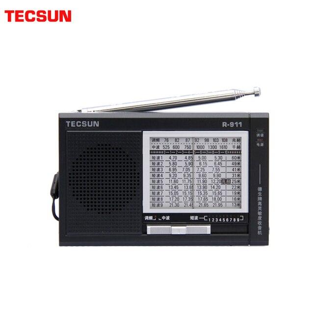 TECSUN R 911 Radio AM/ FM / SM (11 bandes) récepteur multi bandes diffusion avec haut parleur intégré noir et bleu pas cher et léger