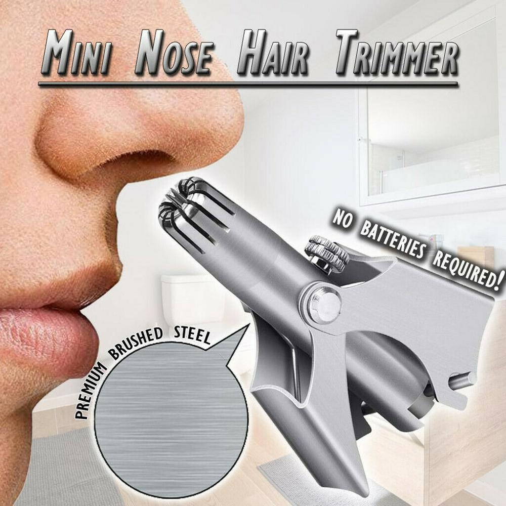 2020 New Stainless Steel Manual Nose Hair Trimmer for Shaving Nose Ear Hair Trimmer Face Care For Man Scissors Washable Device