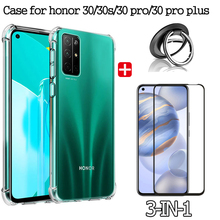 pro stp 30s 3in1 case for honor 30 30s 30 pro plus case+ glass+ring HUAWEI honor30 s 30pro plus airbag transparent case honor-30s 30pro plus