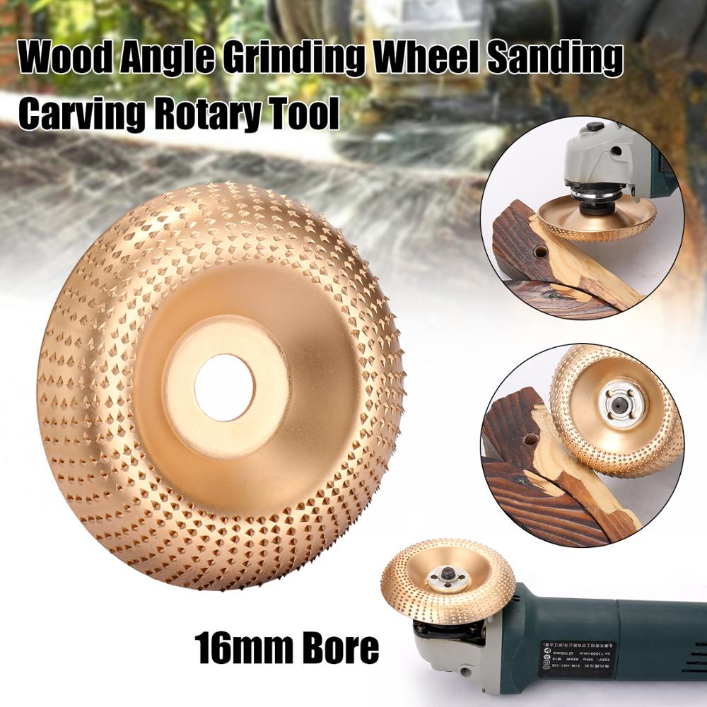 Wood Angle Grinding Wheel Sanding Carving Rotary Tool Abrasive Disc Angle Grinder Tungsten Carbide Coating Bore Shapin
