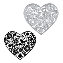 DiyArts Heart Dies Bird Flower Metal Cutting New 2019 for Card Making Scrapbooking Embossing Stencil