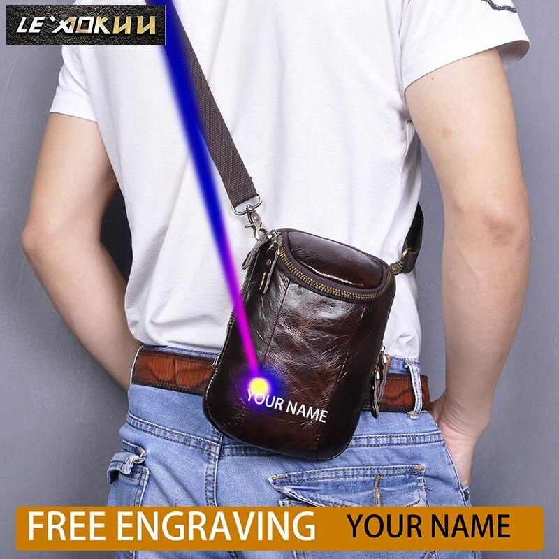 Hot Sale Fashion Quality Leather Coffee Design Hook Fanny Waist Belt Bag Pack Messenger Bag Summer Phone Cigarette Case 611-25-c