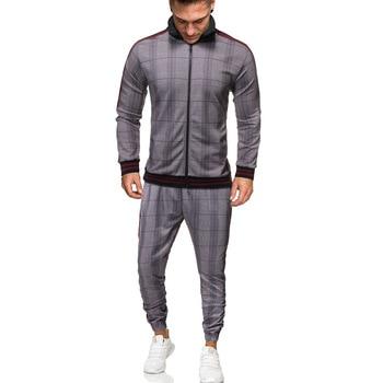 tracksuit men sport suit men sportswear casual two piece   3