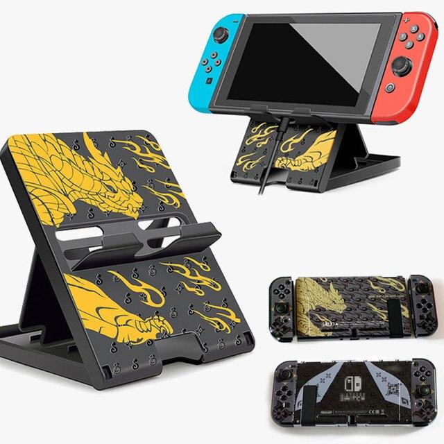 Monster Hunter Có Thể Gập Lại Giá Đỡ Khung Điều Chỉnh Đế NS Lite Vỏ Bảo Vệ Cứng Cover Dành Cho Máy Nintendo Switch Phụ Kiện