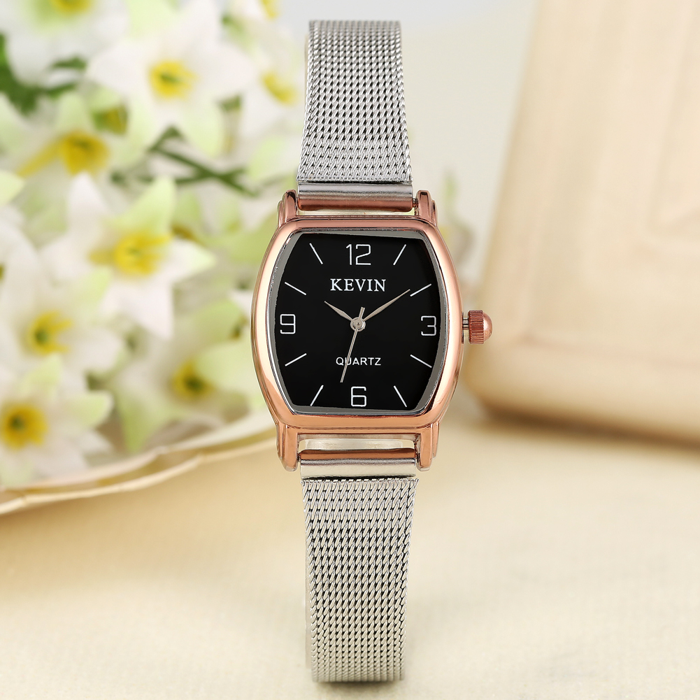 Classic Small Black/White Dial Quartz Watch Women Female Solid Stainless Steel Band With Pin Buckle Wristwatch Gifts