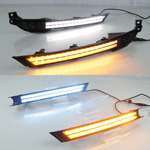 Image 5 - 2Pcs For Mazda CX 5 CX5 2017 2018 2019 Driving DRL Daytime Running Light fog lamp Relay LED yellow turn Daylight style