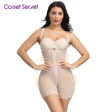 цена на Corset Secret Plus Size Women Body Shaper Hook Front Plus Size High Waist Body Shaper Women Bodysuits Women Shapewear
