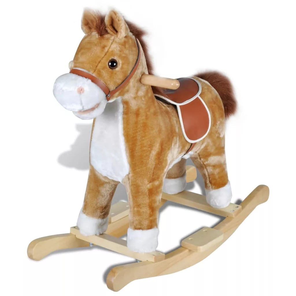 Child Rocking Horse Baby Ride On Toys Horse Rocking Chairs Trojan Toys Baby Play Kids Indoor Toys V3