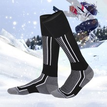 Sports Socks Children Outdoor Unisex Winter Ski Snow Sports Heat Long Hose Hiking Mountaineering Warm Compression Stockings(China)