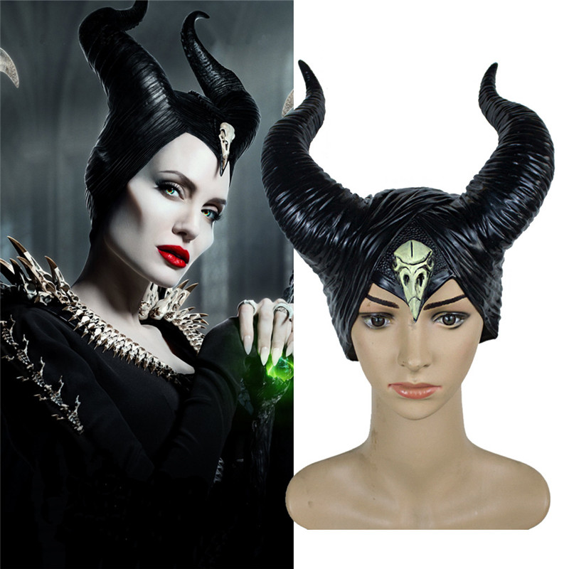 Maleficent Cosplay Headpiece with Horn Maleficent Evil Black Queen Headwear Hot