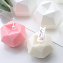 Candle Silicone Mold Handmade Face-Cube Creative Diamond 1-Pc Multilateral DIY Eight-Sided