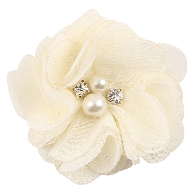 10Pcs Baby Chiffon Flower Hair Clips Rhinestone Toddler Hairpins Girls Headdress 72XC