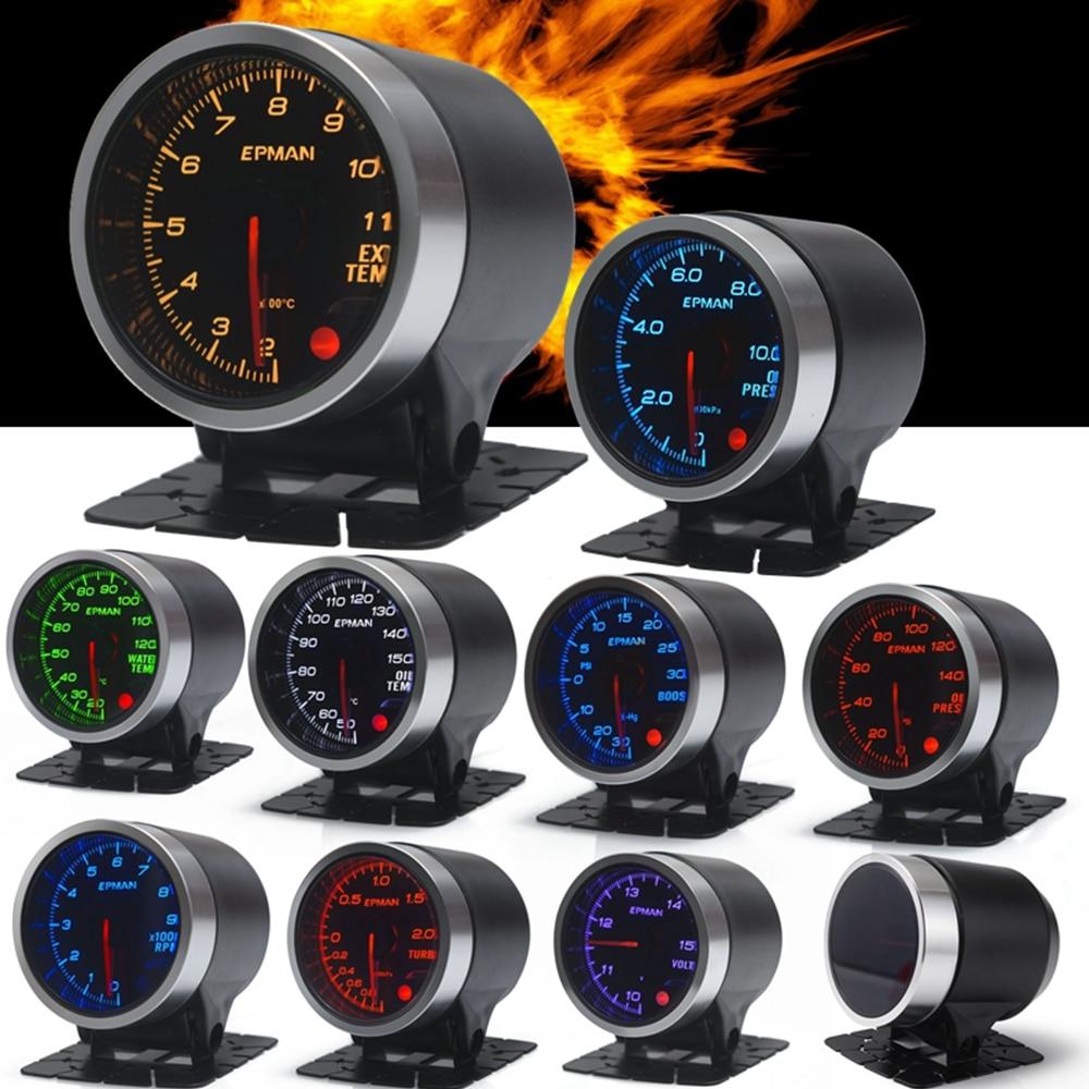 Универсальный Автомобильный Тахометр EPMAN, 12 В, 52 мм, температура масла в воде, температура выхлопа, турбонаддув, температура выхлопа