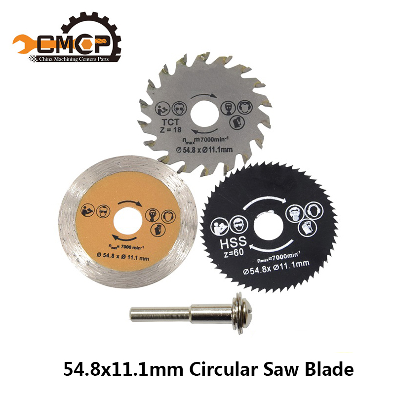 54.8mm Cutting Tool Saw Blades For Circle Power Tool Circular Saw Blade HSS Saw Blade Woodworking Saw Blade Cutting Disc