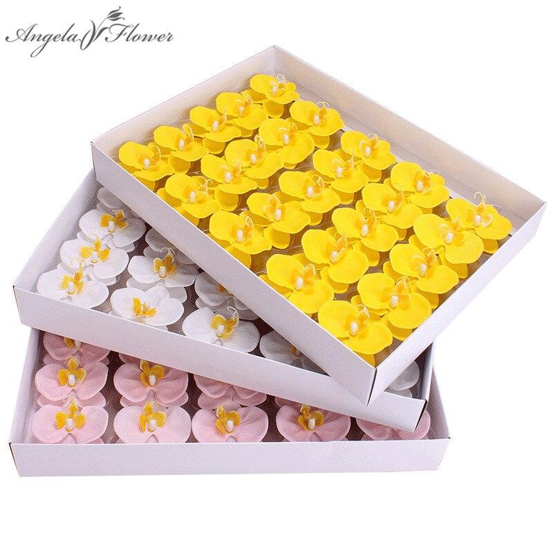 Мыло цветочного бутона искусственная Орхидея, бабочка фаленопсис мыло букет цветов Подарочная коробка Домашний декор ручной работы Свадеб...