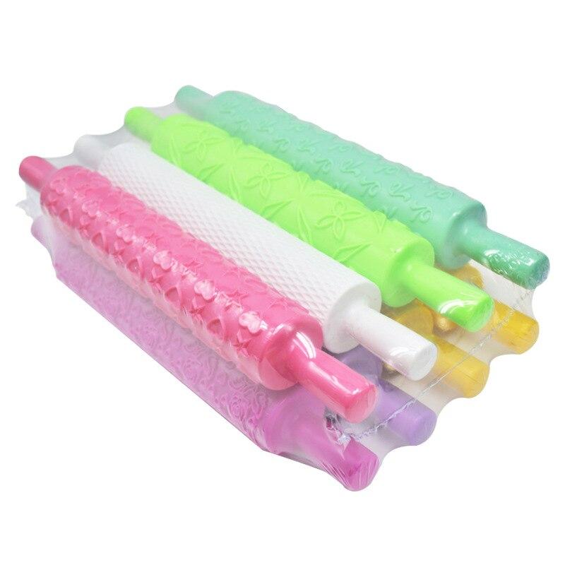 DIY инструмент для выпечки 8 видов цветов Печатный скалка для раскатки тисненая палка для торта скалка для помадки штамповка Скалка