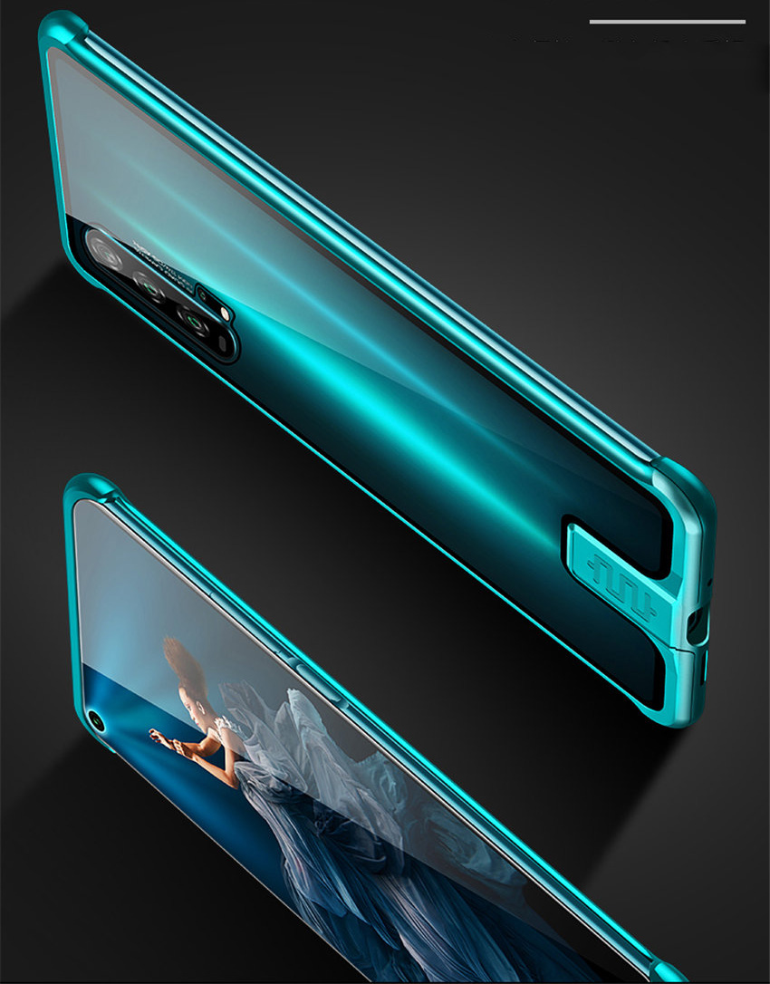 R-just Borderless Series Metal Frame Phone Case For Huawei Honor 20 Protect Case Glass Back Cover Cases For Huawei Honor 20 Pro (7)