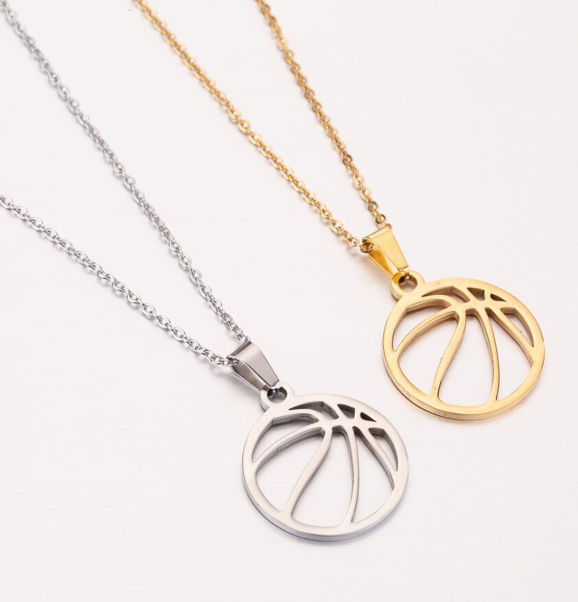 2021 из нержавеющей стали выработать ожерелья баскетбольное ожерелье с футбольной подвеской, модное ювелирное изделие для женщин и мужчин, д...