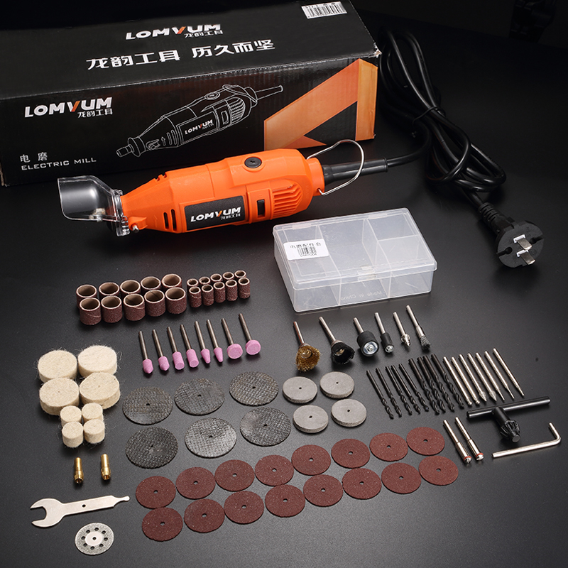 LOMVUM Abrasive Tools Electric Grinder Set Electric Drill Engraving Tool 350W 400W Speed Grinding Polishing Rotary Tool Drill in Grinders from Tools