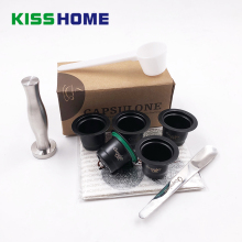 Stainless Steel Reusable Capsule For Nespresso Match Cover /Tamper/Membranes/Preservation Case Coffee Capsules Accessory