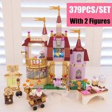 Princess Belles Enchanted Castle Palace Girl Fit Girls Friends Figures Model Building Block Bricks Toy Gift Kid Birthday