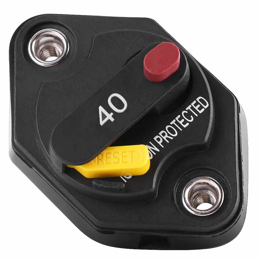 40 Amp Car Circuit Breaker Switch Manual Reset Ignition Protected Fuse Box  For Trucks Bus Marine Boat Waterproof| | - AliExpresswww.aliexpress.com