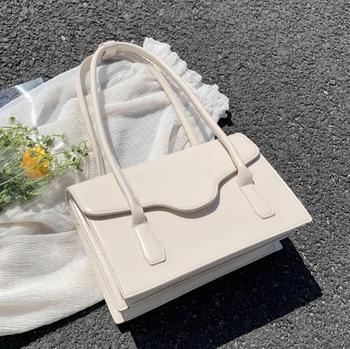 Elegant Female Solid Color Tote Bag 2020 Fashion New High-quality Leather Women's Designer Handbag High Capacity Shoulder Bags