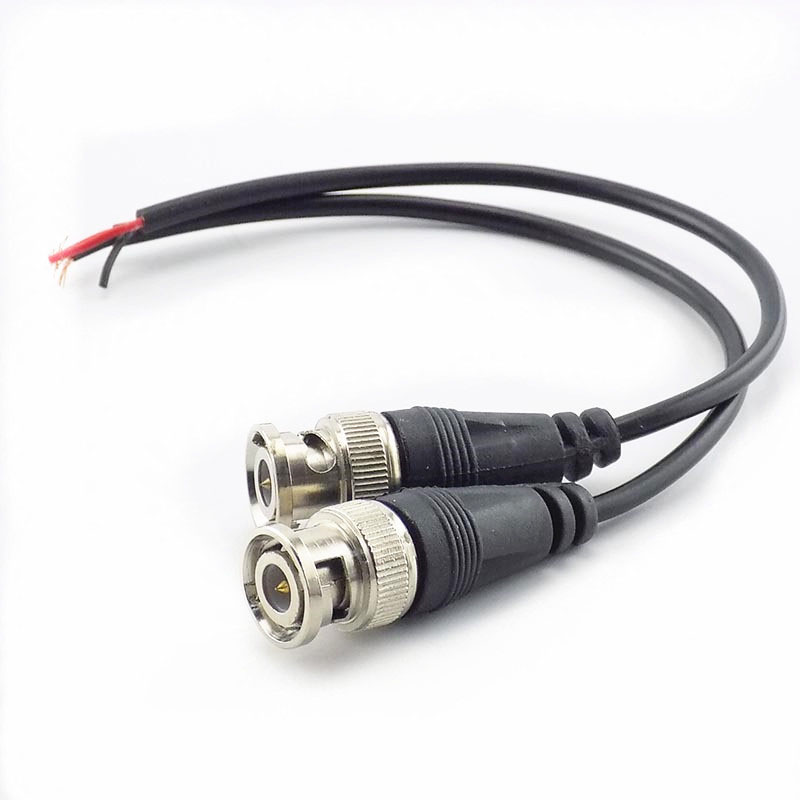 1Pc BNC Female Connector Pigtail Cable Adapter Extension Cord DC Power Line Connectors Wire For Video Camera K09
