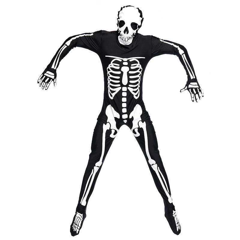 Костюм на Хэллоуин Череп Скелет демон дух косплей костюмы Взрослый карнавал маскарадный костюм