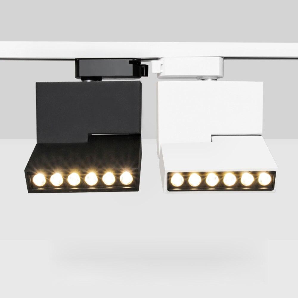 LED Track Light 6W 12W Ceiling Rail Spotlight Led Tracking Fixture Spot Lamp Lighting  Store Living Room Office Black White