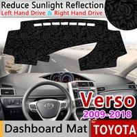 for Toyota Verso AR20 2009~2018 SportsVan Anti Slip Mat Rose Pattern Dashmat Dashboard Cover Pad Sunshade Cape Rug Accessories