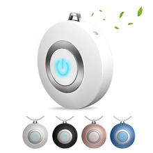 Wearable Air Purifier Necklace Mini Portable USB Air Cleaner Negative Ion Generator Low Noise Air Freshener Drop shipping free shipping solar energy air purifier usb charge portable air cleaner
