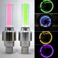 2PCS 자동차 바퀴 LED 빛 Motocycle 자전거 라이트 타이어 밸브 모자 장식 랜 턴 타이어 밸브 모자 플래시 스포크 네온 램프