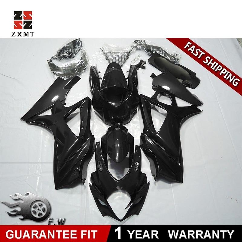 2006-2007 ZXMOTO Matt Black Fairing Kit for Suzuki GSXR 600 750 K6