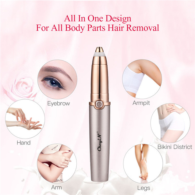 Mini Electric Eyebrow Trimmer Women Painless Epilator Pen Protable Lip Face Hair Remover Lady Shaver Razor USB Rechargeable 45 4