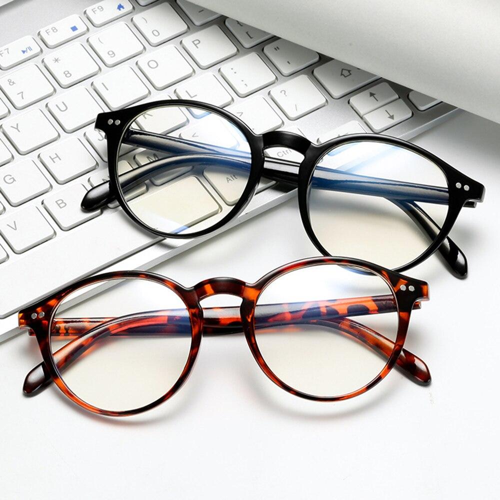 Biuro niebieskie światło okulary blokujące Vintage Retro okrągła oprawka kobiety mężczyźni optyczne oprawki okularowe okulary ramki okularów do komputera