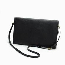 New bag new fashion black envelope bag clutch bag zipper lady bag full pu bag popular solid color female clutch bag  Fashion zipper chains magnetic closure clutch bag