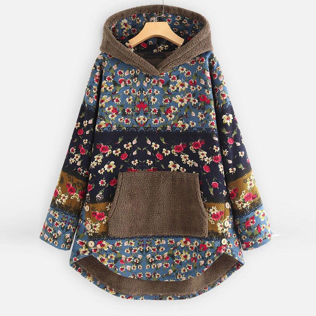 H31df0df0ea4b49e1877012953e271a5fc Female Jacket Plush Coat Womens Windbreaker Winter Warm Outwear Retro Print Hooded Pockets Vintage Oversize Coats Plus Size 5XL
