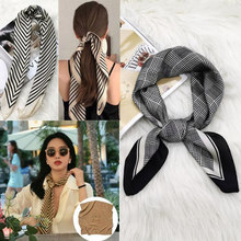Tropic caso luxo cachecol feminino lenço de seda saco lenços magros design fita de pulso faixa de cabelo neckerchief bandana para senhoras