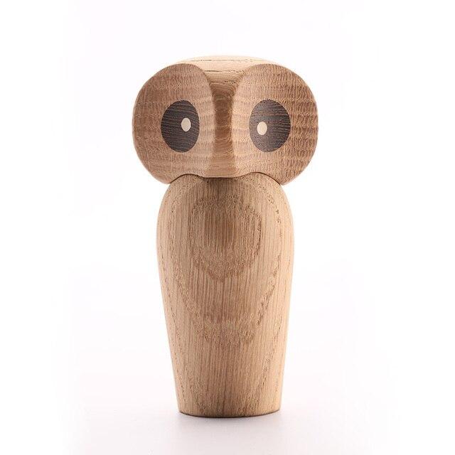 Wood Owl ornament Gift Creative Home Decoration accessories decor figurine modern miniature figurines decoracao para casa maison 6
