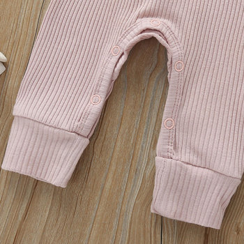 Baby's Ribbed Fabric Long Sleeve Romper 6
