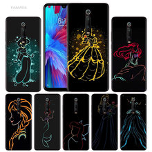 Cartoon Prinses Mermaid Case voor Xiao mi rode Mi note 8 7 K20 CC9 7S S2 6 6A 7A pro mi CC9 E 9 t A3 A1 A2 LITE F1 TPU TELEFOON Cover(China)