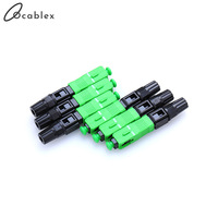 BIG SALE 200PCS/Pack FTTH SC APC Single Mode Fiber Optic SC APC Quick Fast Field Assembly Connector For Drop Cable