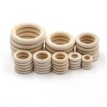 JOJOCHEW 10 размер, хорошее качество, натуральное дерево, прорезыватели для зубов, деревянные кольца, для детей, сделай сам, деревянные украшения, рукоделие, 50 шт